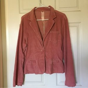 Corduroy Button Blazer Jacket.